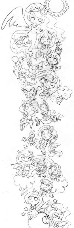 mlp chibi coloring pages chibi my little pony fim by butterflywingies on deviantart