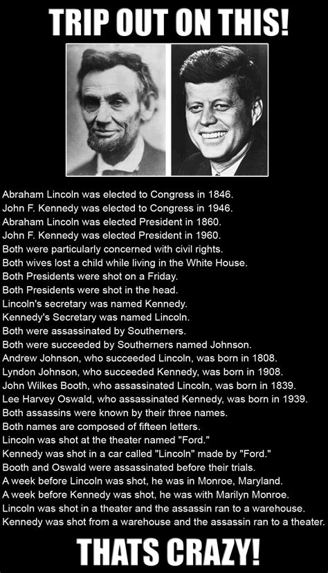abe lincoln and jfk lincoln kennedy similarities