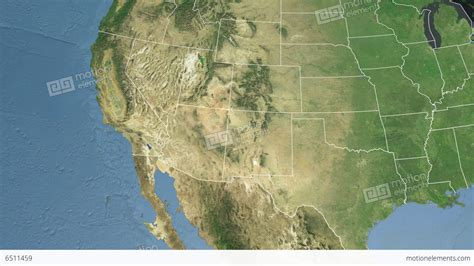 satellite maps usa arizona state usa extruded satellite map stock