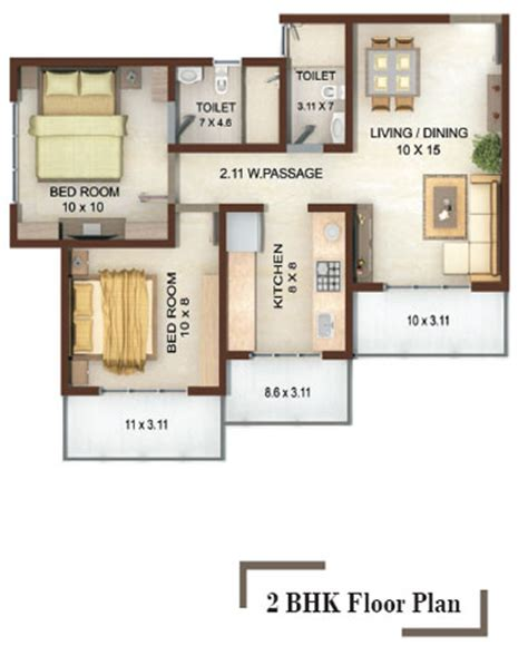 2 bhk house plans 800 sqft vedic heights 1 2 bhk apartments on akruli road