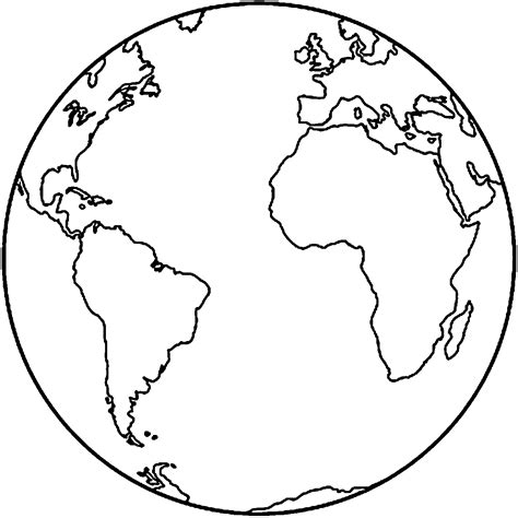 earth coloring page coloring pages for kids template