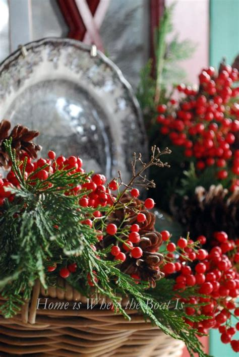 pretty nandina berry christmas decorating pinterest