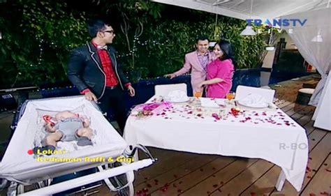 Kereta Bayi Raffi Ahmad ultah pernikahan di happy show raffi mandi besar gara gara kejutan nagita kabar berita