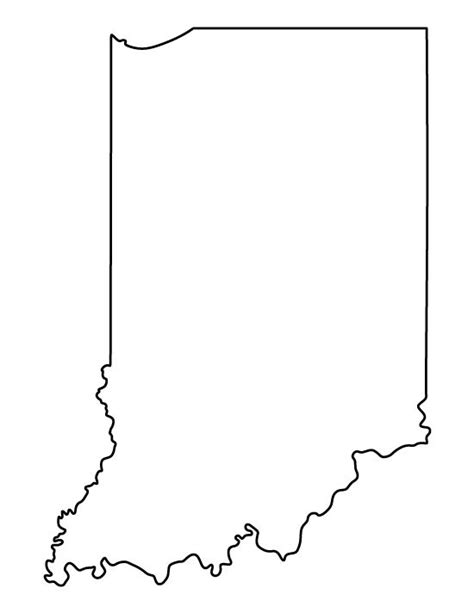 template of state indiana pattern use the printable outline for crafts creating stencils scrapbooking and more