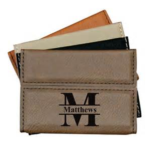 personalized leather business card personalized leather business card holder business card