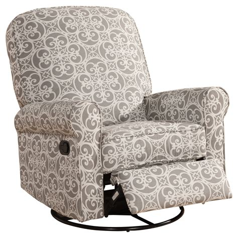 Cool Swivel Chairs Design Ideas Furniture Interesting Pattern Sutton Swivel Glider Recliner With Black Metal Frame Legs For