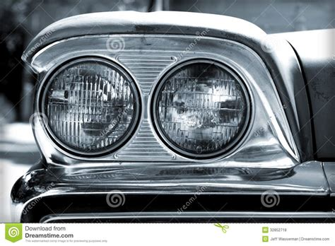 white car lights vintage car headlights royalty free stock photos image