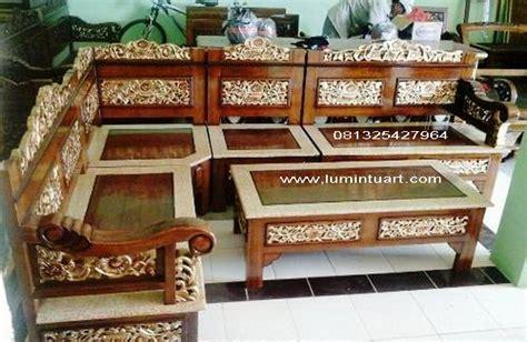 Kursi Kayu Ukiran kursi tamu sudut rahwana bagong kayu jati ukiran jepara set ud lumintu gallery furniture