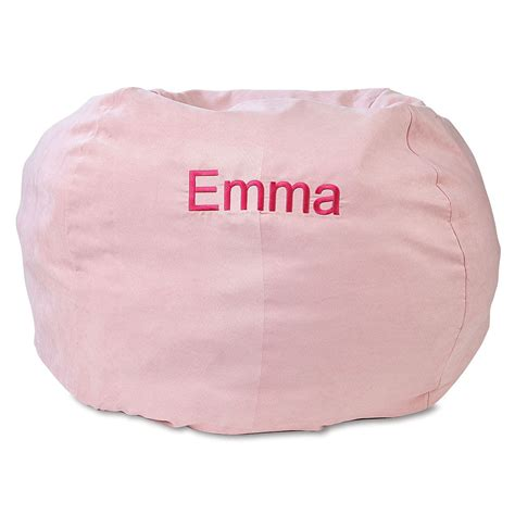 personalized bean bags philippines pink personalized bean bag chair lillian vernon