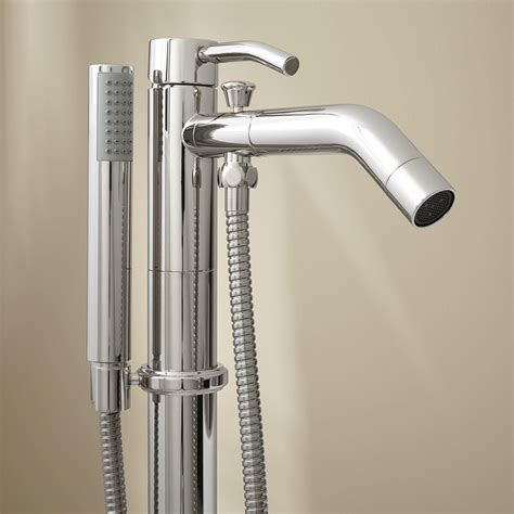 Caol Freestanding Tub Faucet With Hand Shower Freestanding Tub Fillers Tub Faucets