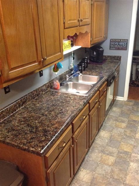 Imitation Granite Countertop by How To Provide Your Countertop A Faux Granite Look