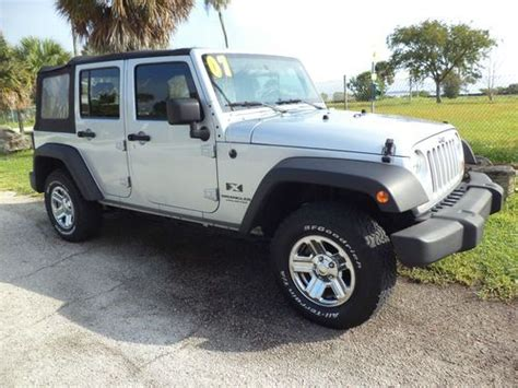 Jeep Wrangler Mpg 2007 Find Used Low Mileage 2007 Jeep Wrangler Unlimited X 4