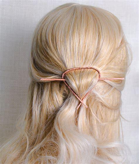 triangle hair triangle hair slide metal geometric hair piece copper hair