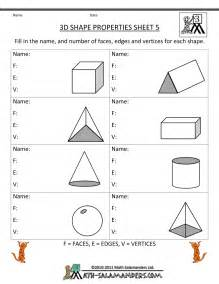3d shape properties sheet math pinterest 3d shapes