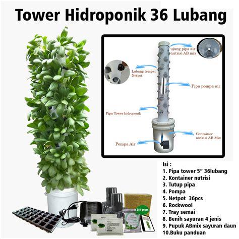 Pembolong Pipa Hidroponik tower hidroponik 36 lubang purie garden