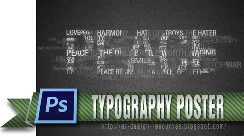 tutorial typography video how to make a cool typography poster photoshop tutorial