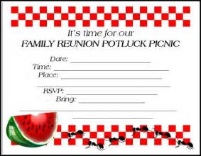 reunion invitation templates free family reunion invitations tips sles templates