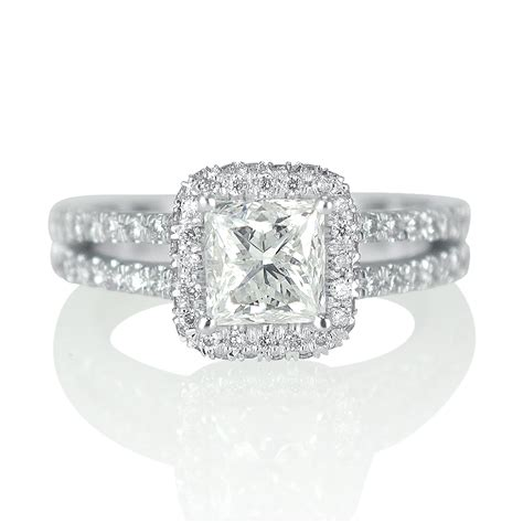 2 carat solitaire princess cut engagement ring g h