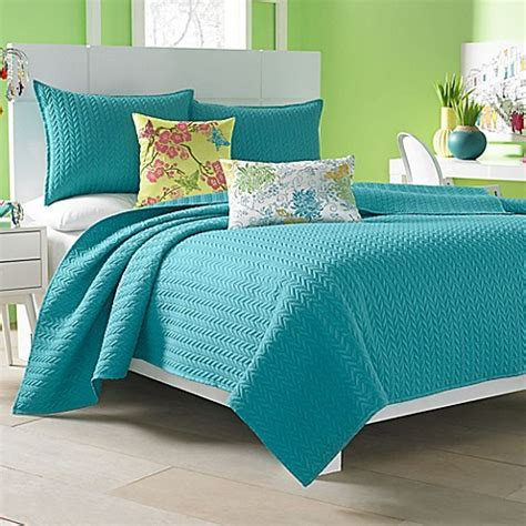 turquoise coverlet buy j by j queen new york camden king coverlet in