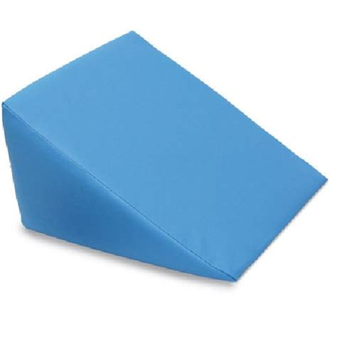 Wedge Pillows by Large Foam Wedge Pillow Blue Sports Supports