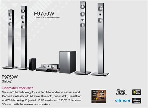 Home Theater Ht F9750w samsung ht f9750w 3d home theatre system buy