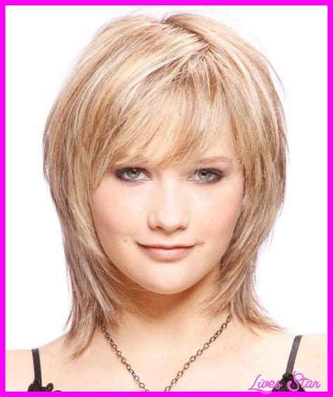 haircut to thin face thin fine hairstyles for round face livesstar com