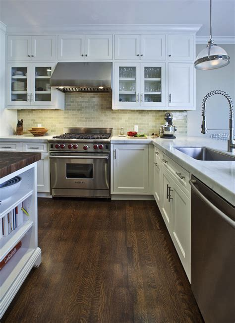 Traditional Kitchen Floor Tiles by Oak Floors Dining Room Contemporary With Bamboo