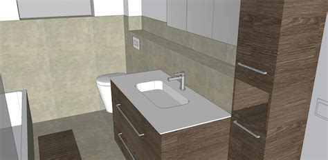 fensterbrett regal 3d badezimmer mit sketchup baublog werder bautagebuch