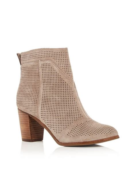 high heeled toms lyst toms s lunata perforated high heel booties in