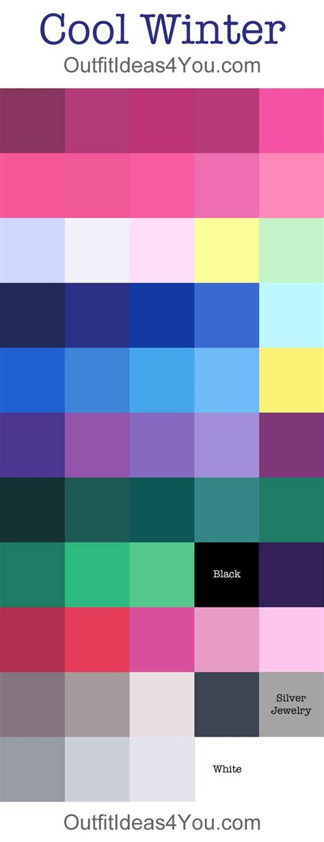 cool 2 color combinations best 25 winter colour palette ideas on pinterest