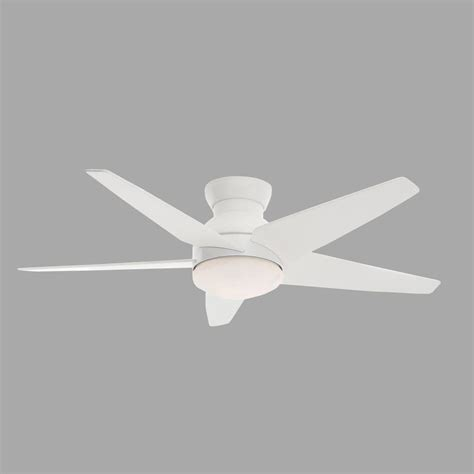 casablanca isotope ceiling fan casablanca isotope 52 in indoor snow white ceiling fan with 4 speed wall mount remote 59021