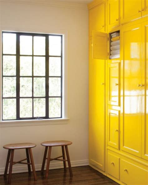 yellow cabinets homes ideas