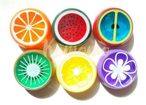 Harga Clear Slime jual slime in fruit slime buah besar clear slime