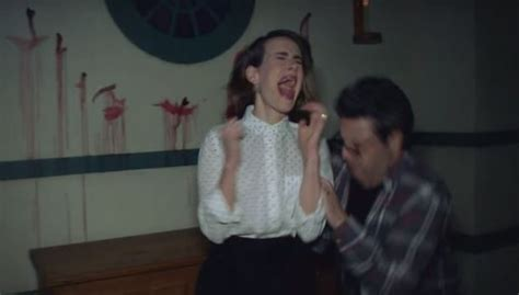 ellen sends andy to haunted house watch ellen sends average andy and sarah paulson through a haunted house and it is