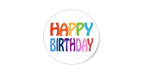 happy stickers happy birthday happy colourful greeting classic