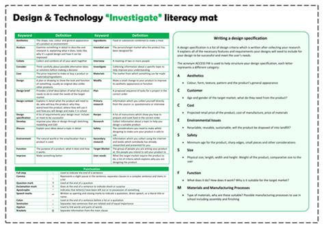 Literacy Mats Ks3 by Informing Education Teaching Resources Tes