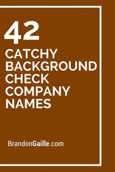 Background Check Companies The World S Catalog Of Ideas