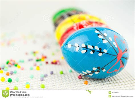 Handmade Easter Eggs - handmade painted easter eggs royalty free stock image