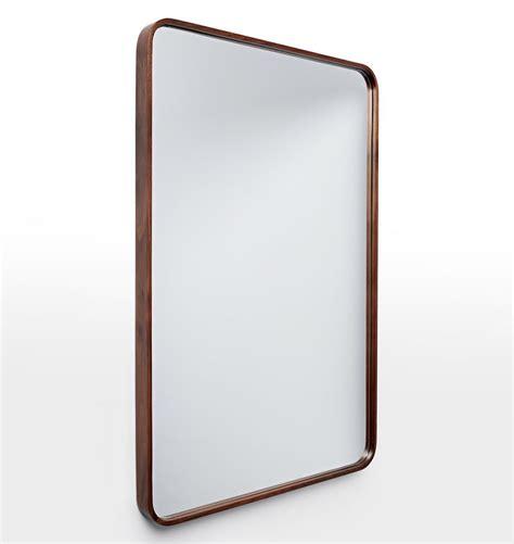 rounded corner bathroom mirror bentwood rounded rectangle mirror rounded rectangle white oak and bath