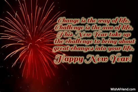 change is the way of life new year message