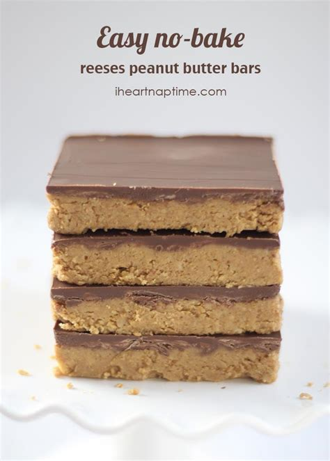 no bake peanut butter bars with chocolate on top reeses peanut butter no bake bars i heart nap time