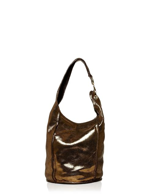 Dixonsbag From Moda In Pelle by Moda In Pelle Evelinabag Slouch Shoulder Bag In Metallic