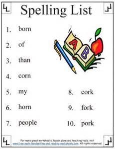 1st grade spelling worksheets phonetic or