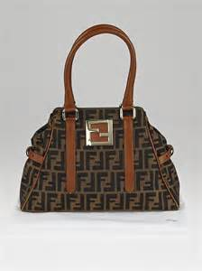Fendi Bag Du Jour Purse by Fendi Tobacco Zucca Print Canvas Du Jour Small Tote Bag