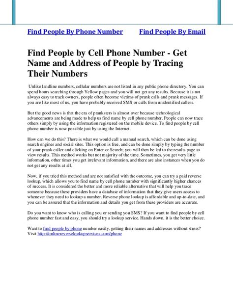 Name And Address Search By Phone Number Find By Cell Phone Number Get Name And Address Of By