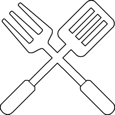 coloring pages for kitchen utensils bbq utensil coloring page utensils applique letters and