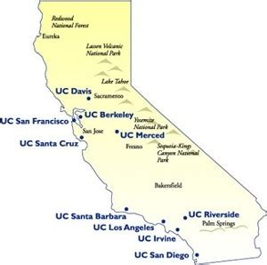 of california system map uc system