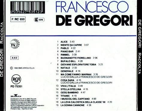 the best of de gregori titanic la stiva di ciccio varie