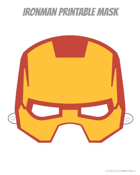 Ironman Mask Template by Iron Mask Clip 62