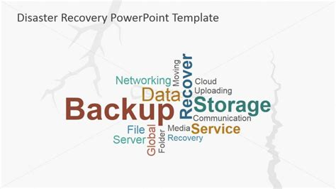 Disaster Recovery Tag Cloud Slidemodel Cloud Disaster Recovery Plan Template